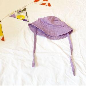 Hanna Andersson Purple Tie Sun Hat Baby XS